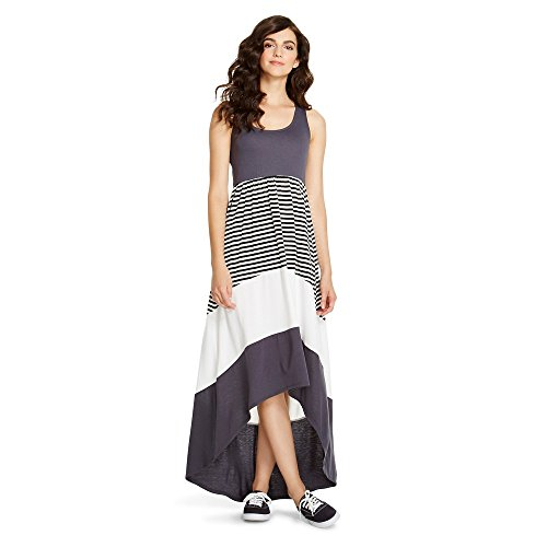 Mossimo Supply Co Women's Women's Hi Low Charcoal/Striped Long Dress (X-Large) from Mossimo Supply Co