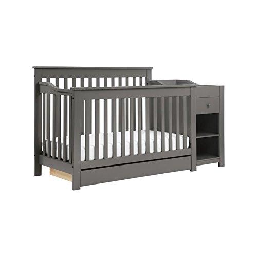 DaVinci Piedmont 4-in-1 Crib & Changer Combo, Slate