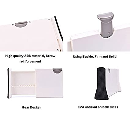 , 4-Pack Do4U Adjustable Expandable Drawer Dividers White 11-17 Small
