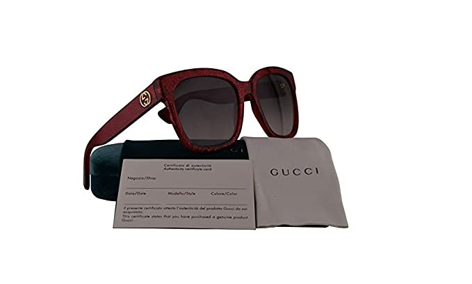 77cb3c82883 Image Unavailable. Image not available for. Colour  Gucci GG0034S  Sunglasses Red ...