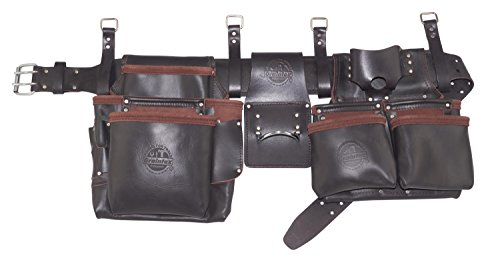 Graintex OD2566 4Piece Pro Framers 15 Pocket Tool Belt Top Grain Oil Tanned (Oil Top Grain)