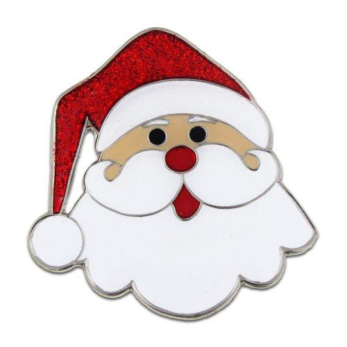 Holiday Christmas Pin (PinMart's Santa Face Christmas Holiday X-Mas Brooch Enamel Lapel Pin)
