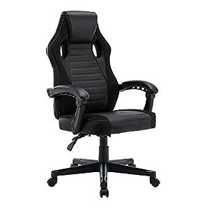 play haha. Chaise de bureau pivotante de style course pour ordinateur – Chaise de conférence ergonomique avec soutien…