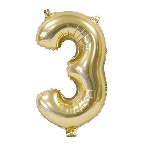 H&B HB - Balón Metal Oro 36 cm - Número 3: Amazon.es: Hogar