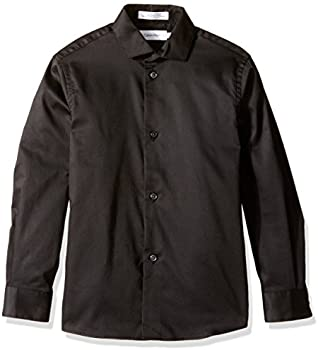 Calvin Klein Boys&#39 Long Sleeve Sateen Dress Shirt