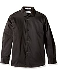 Boys' Long Sleeve Sateen Dress Shirt