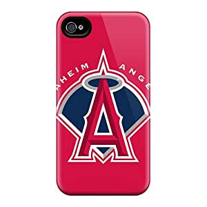 New Diy Design Baseball Los Angeles Angels For Iphone 4/4s Cases Comfortable For Lovers And Friends For Christmas Gifts
