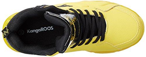 KangaROOS K-lev Vi Hi - Zapatillas Unisex adulto Mehrfarbig (Yellow/black)