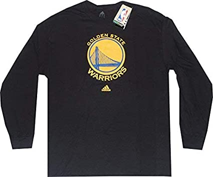 ccb02edf1a04 adidas Golden State Warriors Black Long Sleeve Primary Logo T-Shirt Small