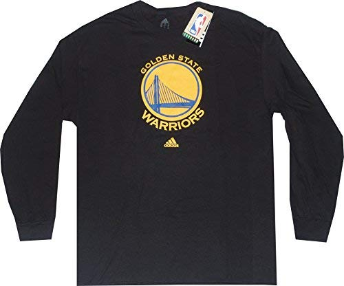 adidas Golden State Warriors Black Long Sleeve Primary Logo T-Shirt Large