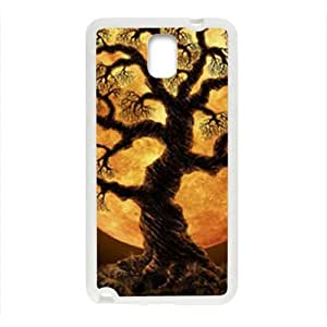 Glam Tree Night Moon personalized creative clear protective cell phone case for Samsung Galaxy Note3