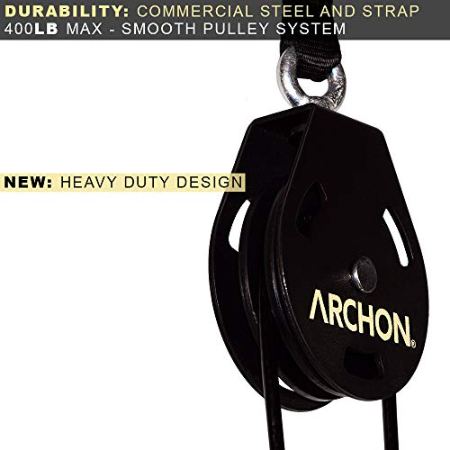 ARCHON Fitness Single Pulley Cable Station Pair (E: Single Pulley 70'' Pair) by ARCHON (Image #4)