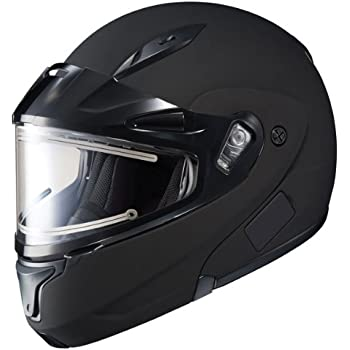 amazon com snowmobile helmet heated visor electric shield power hjc cl max 2 solid bluetooth ready modular snowmobile helmet electric shield matte black large