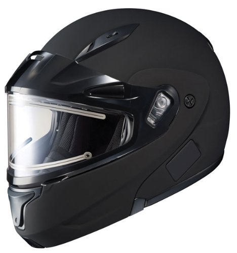 Snowmobile Helmet Modular (HJC CL-Max 2 Solid Bluetooth Ready Modular Snowmobile Helmet with Electric Shield - Matte Black, X-Large)