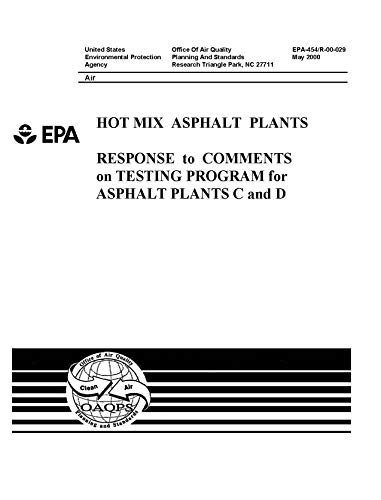 (Hot Mix Asphalt Plants Response To Comments On Testing Program For Asphalt Plants C And D)