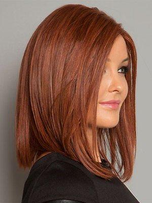Hi Girl Medium Length Auburn Straight Hair Full Wig Wigs