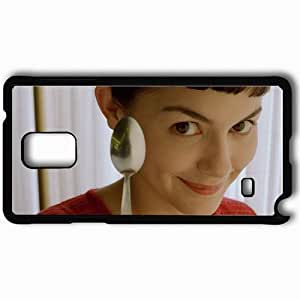 Personalized Samsung Note 4 Cell phone Case/Cover Skin Amelie Black