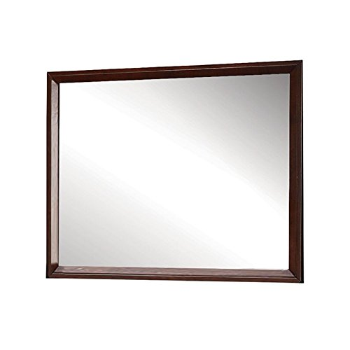 ACME 20404 Ilana Mirror, Brown Cherry Finish