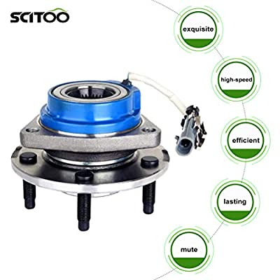 SCITOO Front/Rear Wheel Hub and Bearing Assemblies for Buick Century Cadillac Chevrolet Pontiac Saturn 1997-2013 Compatible for OE 513121 Axle Bearing and Hub Assembly 5 bolts W/ABS 1 pack: Automotive