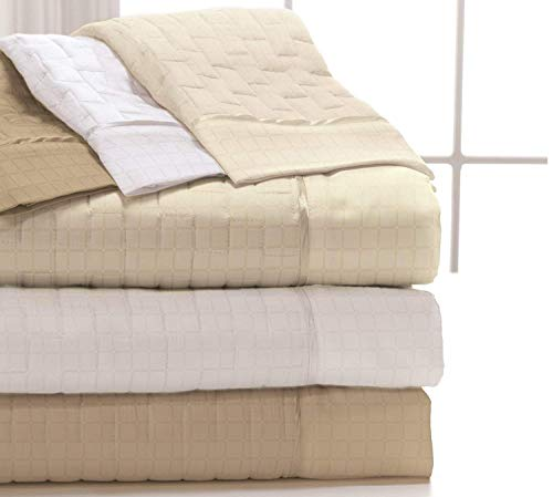 (DreamFit Degree 6 MicroTencel/Supima Cotton Quilted Luxury Sheet Set (Queen, Ivory))