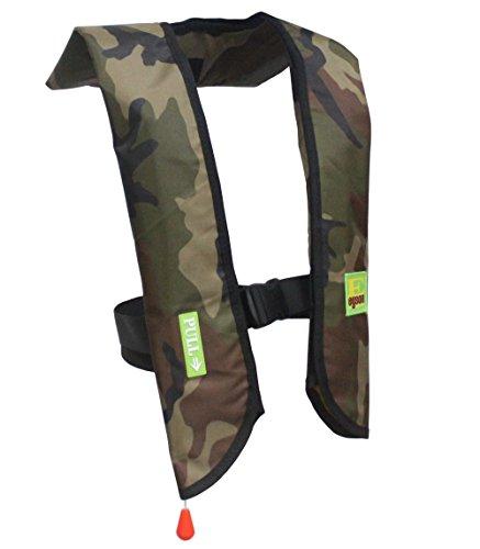 Eyson Inflatable Life Jacket Life Vest Basic Manual (709 Green Camouflage)