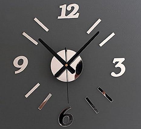 JY$ZB Sala de estar dormitorio etiqueta DIY reloj acrílico adorno ...