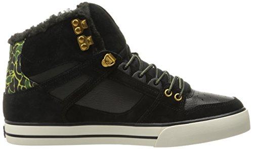 DC Skateboard Shoes SPARTAN HIGH WC WHEAT/DARK CHOCOLATE Black (blo)
