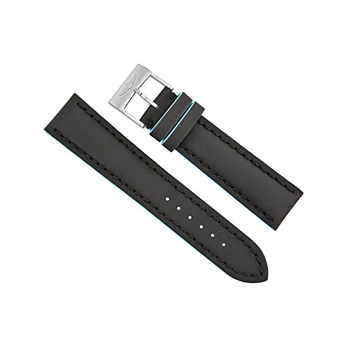 Breitling-Black-Leather-Watch-Band-Strap-with-Blue-Trimming-22mm-20mm-227X-A20BASA1