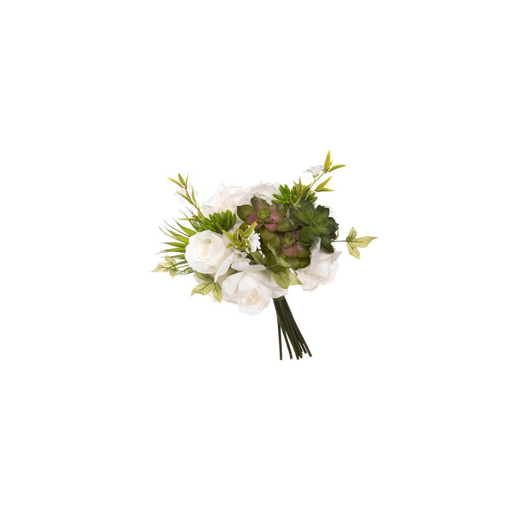 Darice-David-Tutera-Artificial-White-Green-Mix-Rose-and-Succulant-Bridal-Bouquet