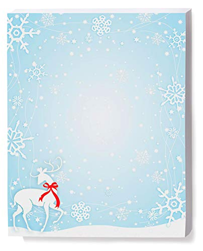 Snowflake Blizzard Holiday Stationery, Eco-Friendly, 100 Count