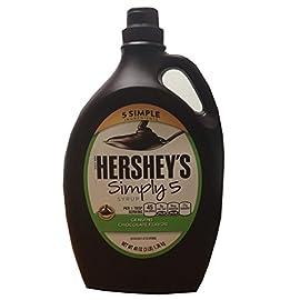 Hershey's Simply 5 Syrup 5 Simple Ingredients Genuine Chocolate Flavor 48 Oz (3 Lbs) Bottle 5 Hershey's Simply 5 Syrup 5 Simple Ingredients Genuine Chocolate Flavor