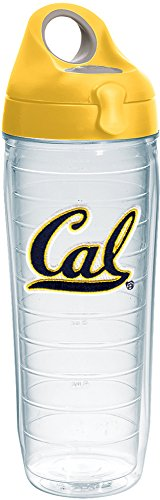 Tervis 1231325 Cal Bears Logo Insulated Tumbler with Emblem and Yellow Lid 24oz Water Bottle -