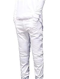 Jinmen Mens Skinny Runway Distressed Slim Denim Biker Jeans Hiphop Pants