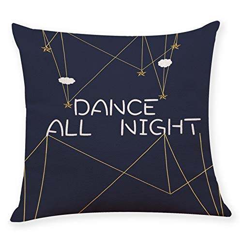 Littay Home Cushion Cover Dance All Night Sleep All Day Throw Pillowcase Pillow Covers -