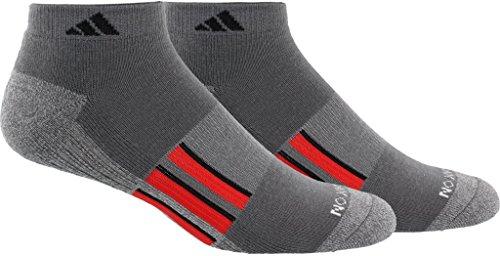 adidas Men's Climalite X II Low Cut Socks (2-Pack), Onix/Onix/Light Onix Marl/Scarlet/Black, Size ()
