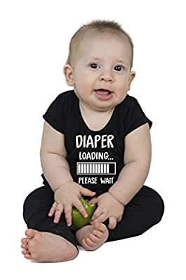 Diaper Loading... | Funny Baby Girl Boy Unisex Onesie Novelty Bodysuit