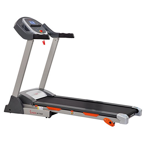 Sunny Health & Fitness SF T7635 Treadmill with Incline, Pulse Grips, LCD Display