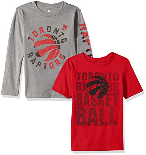 NBA by Outerstuff NBA Kids & Youth Boys Toronto Raptors Short Sleeve & Long Sleeve Combo Pack, Red, Youth Medium(10-12)