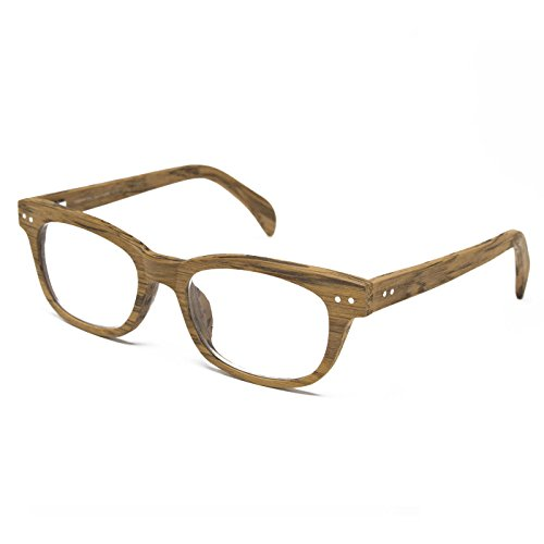 Seymour and Smith Yaletown Yew Reading Glasses for Men and Women (Blonde Wood, 2.00)