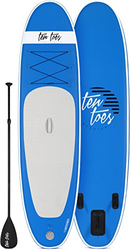 Ten Toes 10' Weekender Inflatable Stand Up Paddle Board Bundle, Blue - 2017