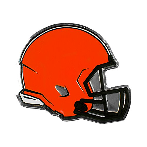 Cleveland Browns NFL Sports Team Logo Car Truck SUV Motorcycle Trunk 3D Helmet Die-Cut Color Premium High Quality Aluminum - Outlets Premium Cleveland