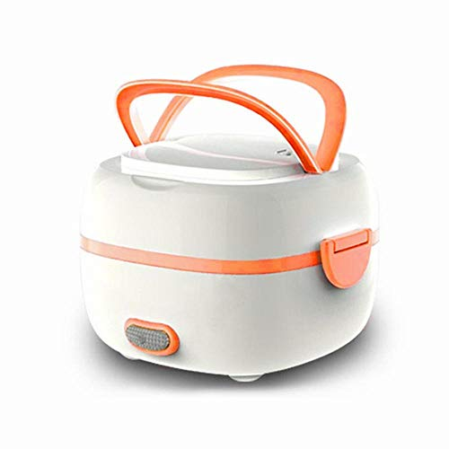 KOBWA Multifunctional Electric Lunch Box, Mini Rice Cooker, Portable Food Heater Steamer with Stainless Steel Bowls, Egg Steaming Rack, Spoon, Measuring Cup for Use in Office Outdoor School ()