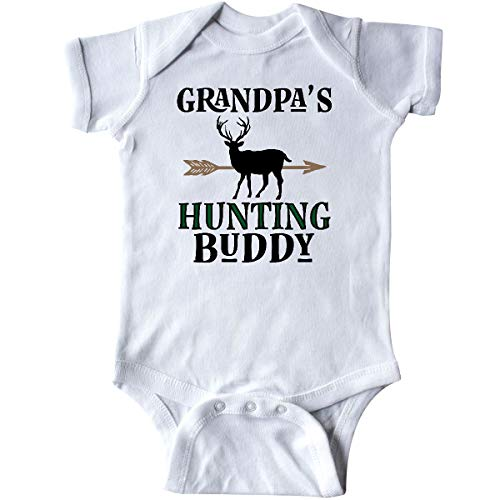 inktastic - Bow Hunter Grandpa Hunting Buddy Infant Creeper 6 Months White 31ddb