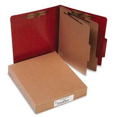 (20-Pt PRESSTEX Classification Folders, Letter, 6-Section, Red, 10/Box)
