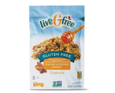 liveGFree Gluten Free Raisin Almond Honey Granola 12oz, pack of 1