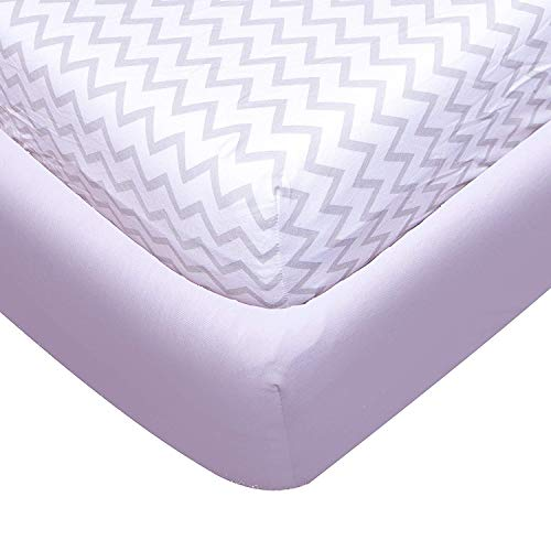 - Baby Crib Sheet Set by Luxe Baby, 2-Pack - 100% Organic Soft Jersey Cotton Fitted Sheet, Fits All Baby Crib Mattresses & Toddler Beds, Grey & White Chevron. Great Baby Shower Gift For Boys and Girls.
