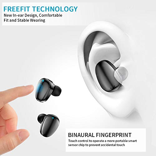 True Wireless Earbuds Bluetooth 5.0 in-Ear Headphones with 3500mAh Charging Case, PEMOTech LED Battery Display 120H Playtime IPX7 Waterproof Wireless Earbuds Noise Cancelling with Mic for Sports/Work