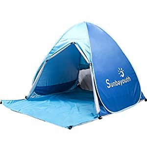 Sunba Youth Beach Tent Pop Up Tent Baby Beach Sun Shade UV Protection  sc 1 st  Amazon.com : uv baby sun tent - memphite.com