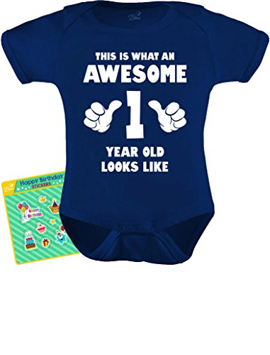 1st Birthday Gift Ideas For Boys (TeeStars - This is What an Awesome One Year Old Looks Like Funny Baby Bodysuit 18M)