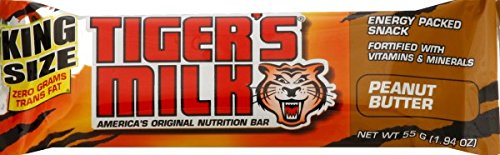 Tiger's Milk Peanut Butter Protein Nutrition Bar, 55 Gram (Pack of 96)